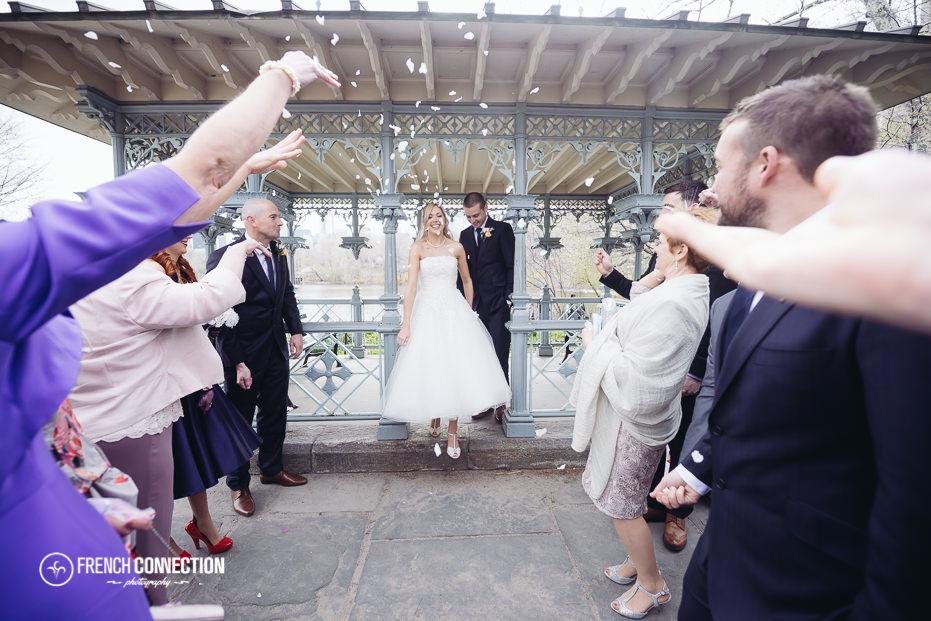 confetti outside ladies pavilion wedding