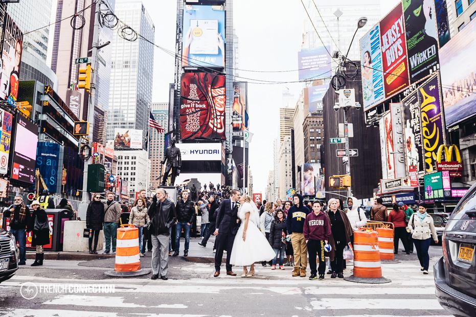 bride in time square