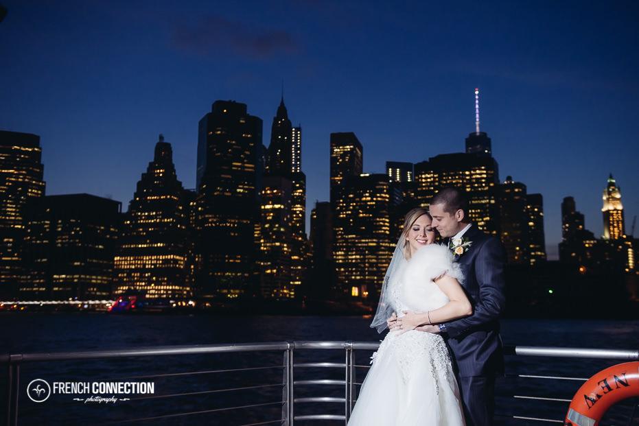 new york skyline bride