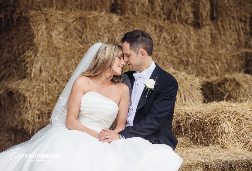 couple in hay at packington farm