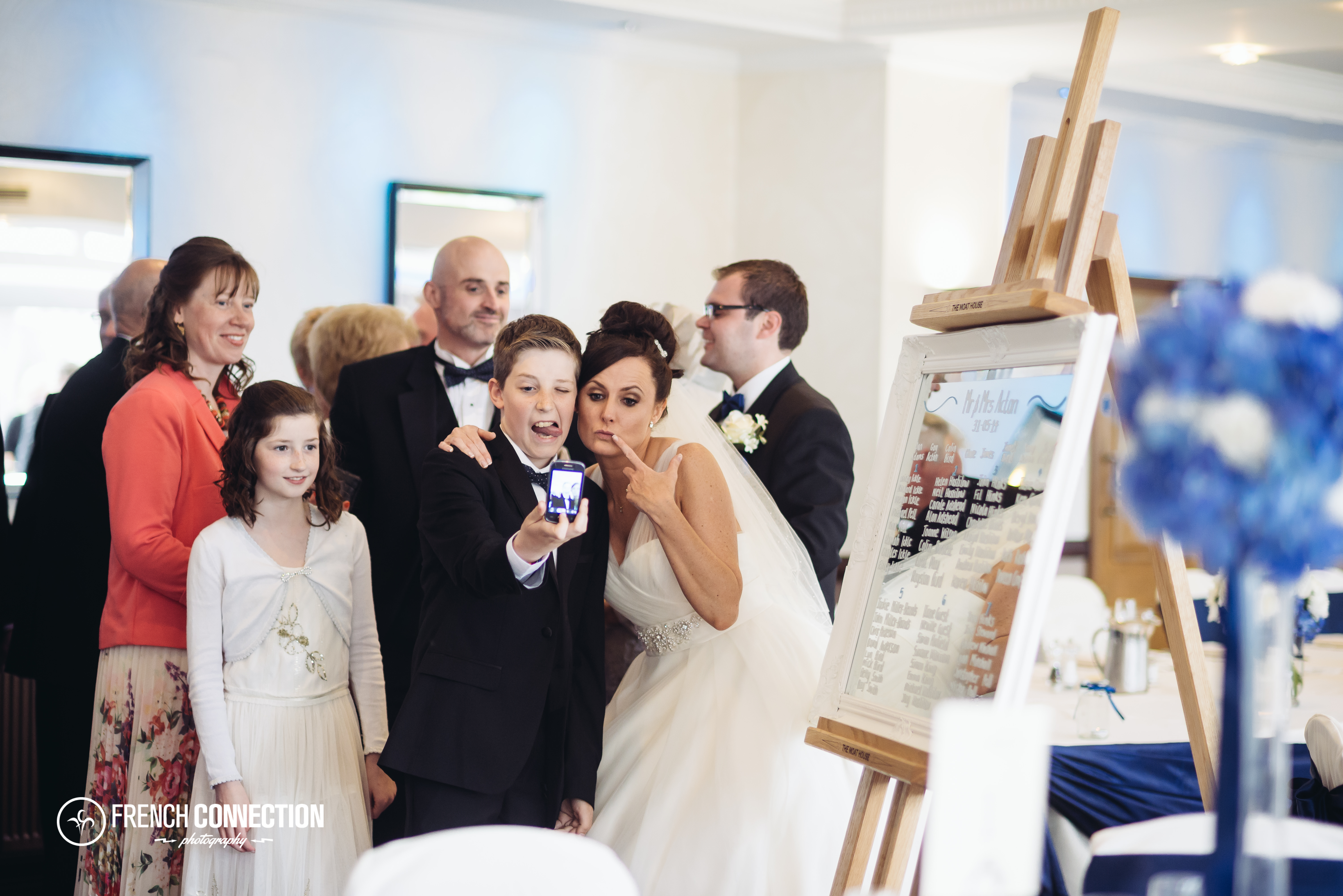 funny moment with bride and guest