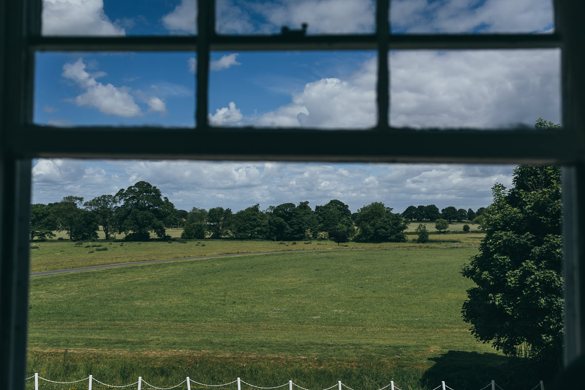view from somerford hall bridal suite