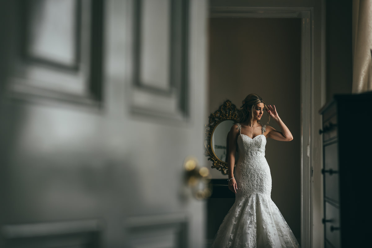 bridal portrait at somerford hall