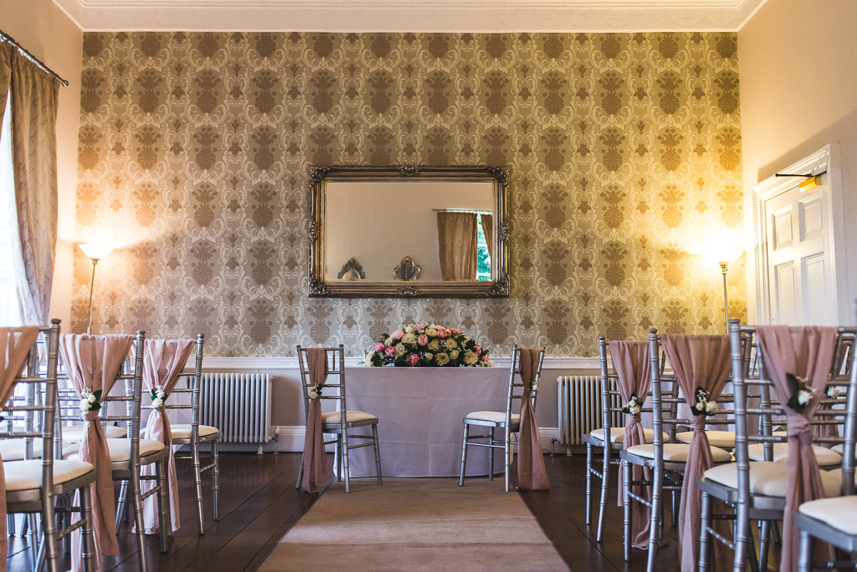 ceremony room at somerford