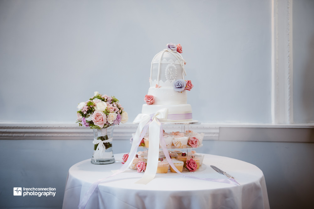 wedding cake at somerford hall
