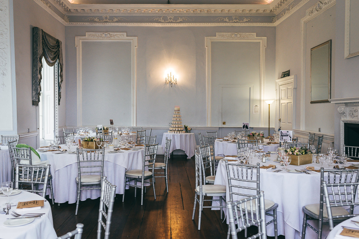 wedding reception room at somerford