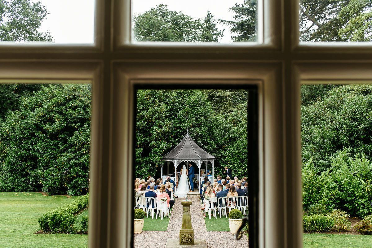 outdoor ceremony at Pendrell Hall